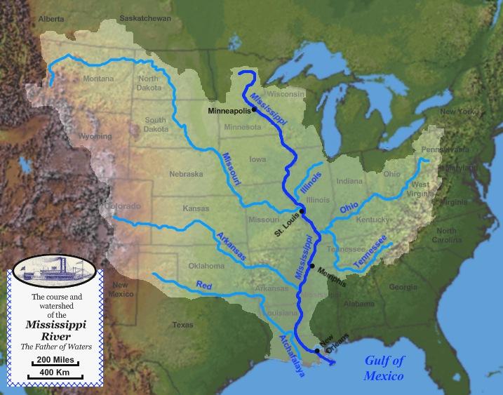 mississippi river map. west of mississippi river map.